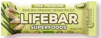 Baton daktylowo - orzechowy z nasionami chia raw bezglutenowy BIO 47 g