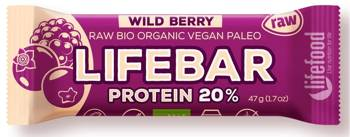 Baton proteinowy z owocami leśnymi raw bezglutenowy BIO 47 g