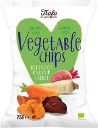 Chipsy warzywne pieczone bezglutenowe BIO 75 g