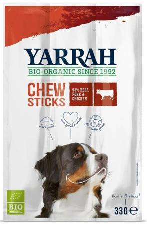 (dla psa) przysmaki wołowe ze spiruliną i algami morskimi BIO (3 szt.) 33 g