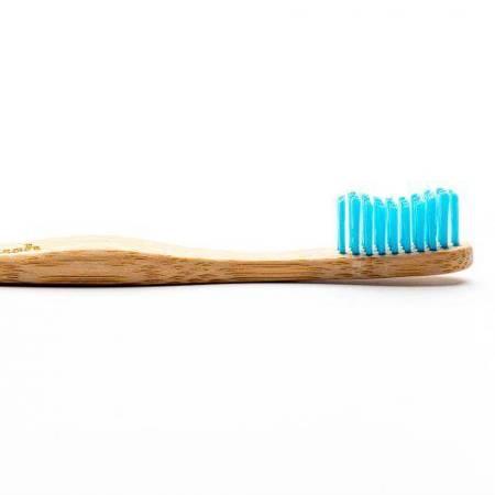 Bambusowa szczoteczka do zębów, Soft, niebieska