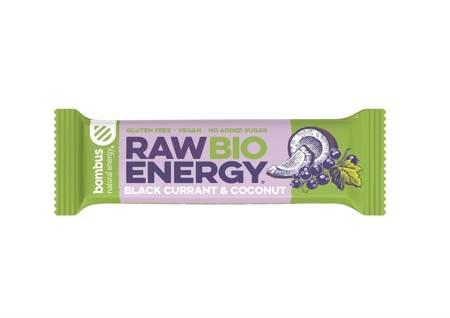 Baton RAW ENERGY BIO czarna porzeczka-kokos BEZGL.