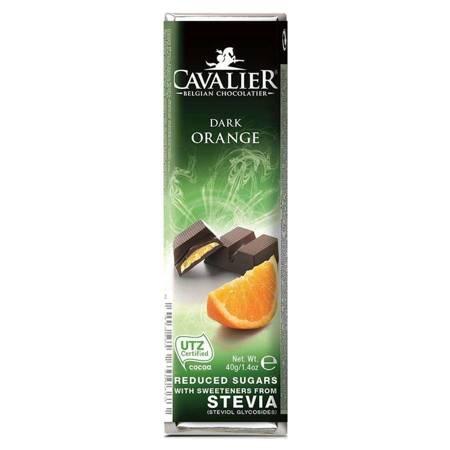 Baton z deserowej czekolady z nadzieniem pomarańcz
