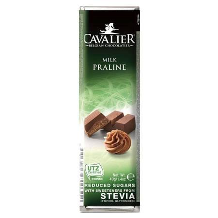 Baton z mlecznej czekolady z nadzieniem pralinowym