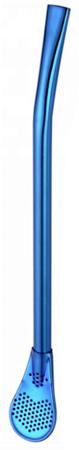 Bombilla nierdzewna niebieska 15,5 cm