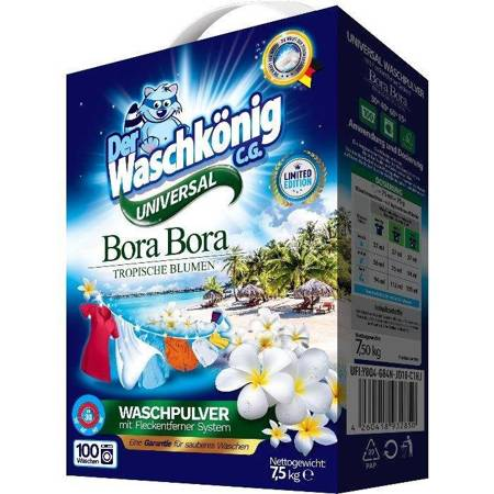 Bora Bora Universal proszek do prania 7,5 kg - 100 WL- Der Waschkönig C.G.