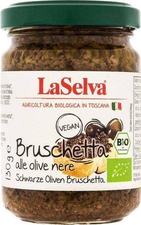 Bruschetta z czarnych oliwek BIO 130 g