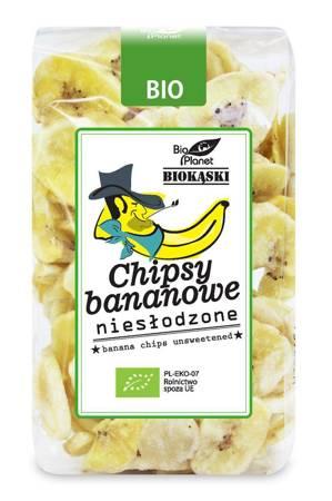 Chipsy bananowe niesłodzone BIO 150 g