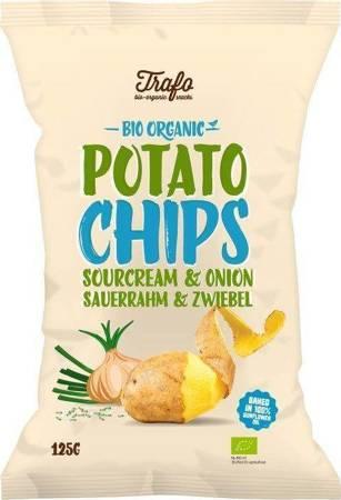 Chipsy ziemniaczane o smaku śmietankowo - cebulowym BIO 125 g