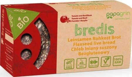 Chleb lniany suszony z pomidorami i bazylią bezglutenowy BIO 70 g