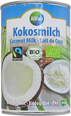 Coconut milk - napój kokosowy w puszce (18% tłuszczu) fair trade BIO 400 ml