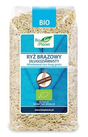 Ryż brązowy długoziarnisty bezglutenowy BIO 500 g