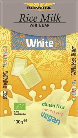 Tabliczka biała bez laktozy bezglutenowa (na napoju ryżowym) BIO 100 g